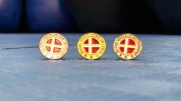DKF Emblemet - Bronze, sølv og guld