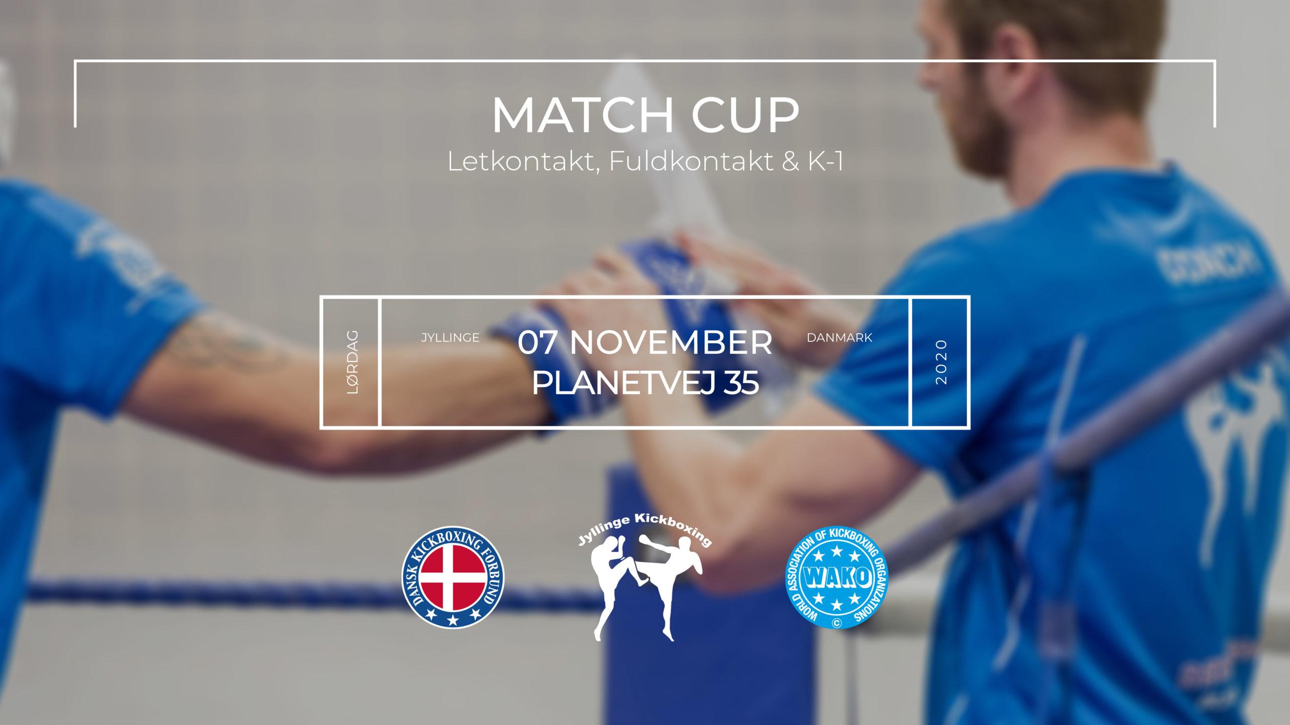 Match Cup hos Jyllinge Kickboxing November 2020